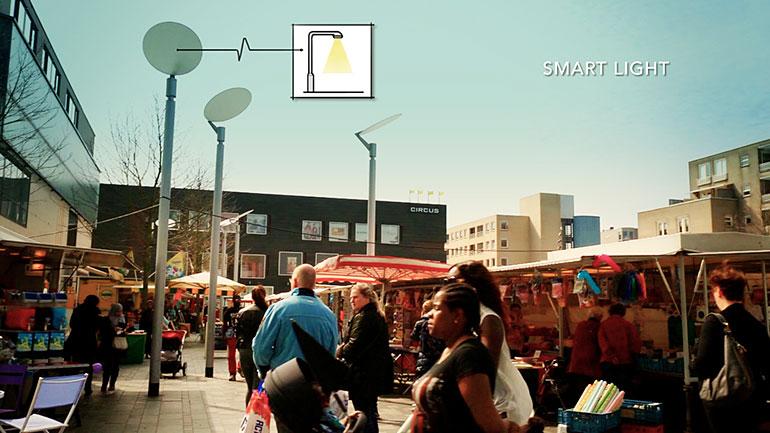 Smart light op het hoekenrodeplein gerealiseerd for Amsterdam economica