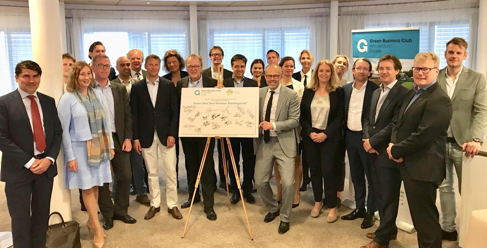 Green business club zuidas ondertekent greendeal zes mra for Amsterdam economica